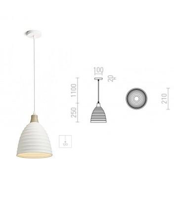 Dimensiones Lámpara Colgante Cerámica FLORIDA E27 Ø21cm