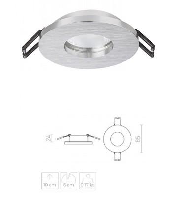 DimensionesAro foco empotrable IP65 Redondo ASTOR R Aluminio