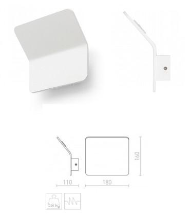 Dimensiones Aplique de pared LED Blanco 5W  BRUXEL 3000K 650lm