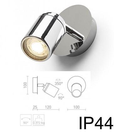 Dimensiones Foco superficie cromo DUBLIN I GU10 IP44