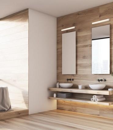 Aplique para espejo baño led 15W IP44 Cromo CORAZON 60CM