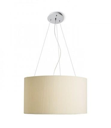 Lámpara de techo con pantalla beige LALO SUSPENDIDA 55 Ø55cm