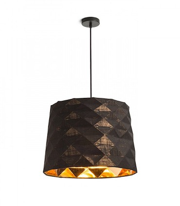 Lámpara de techo con pantalla negro FLAMENCO E27 Ø36cm