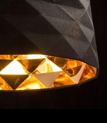 Detalle interior pantalla textil Lámpara de techo con pantalla negro FLAMENCO E27 Ø36cm