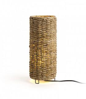 Lámpara de mesa Étnica fibra natural FLORINA E27