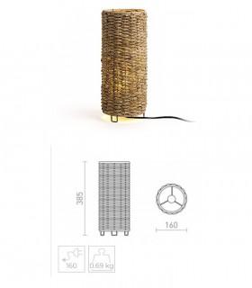 Dimensiones Lámpara de mesa Étnica fibra natural FLORINA E27