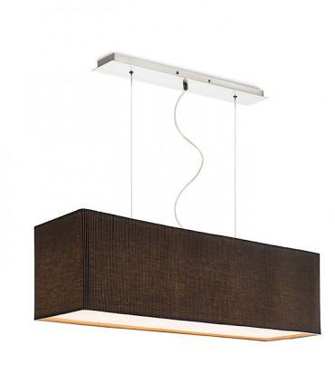 Lámpara de techo con pantalla rectangular negra LOPE 80cm