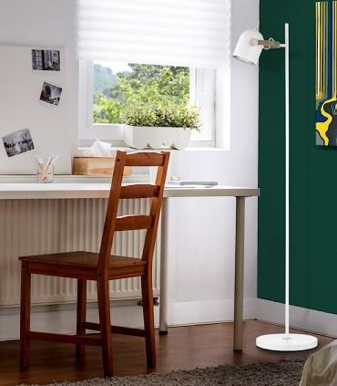 Lámpara de pie ADAME 1 luz Blanco plata - Schuller 346115