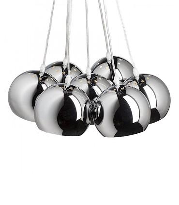 Lámpara de techo 7 luces E27 cromo ASTROMET