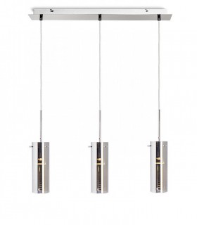 Lámpara 3 Colgantes Vidrio Cromo SANSSOUCI III GU10