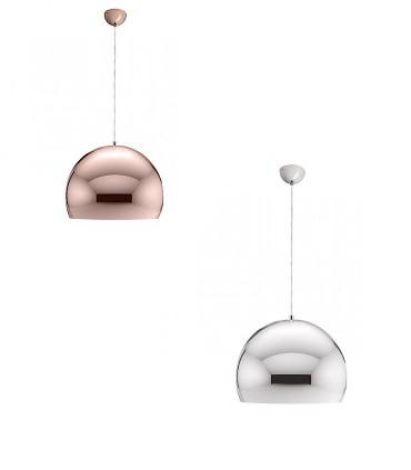 Lámpara colgante ASTON 30 cobre o cromo Ø30cm