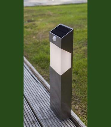 Baliza Solar SOLSTEL c/sensor de presencia 2.3W 150lm Acero Inox