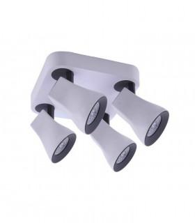 Regleta - Plafón 4 Focos Aspe Blanco-Negro