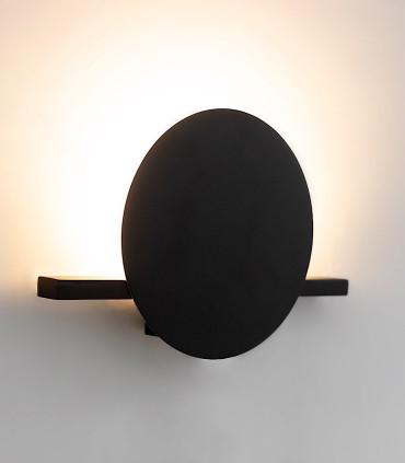 Aplique ERIS LED 8W 3000K Pequeño Negro 7297 - Mantra