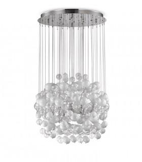 Lámpara Bollicine SP14 tulipa blanca-transp. 087924 IDEAL LUX