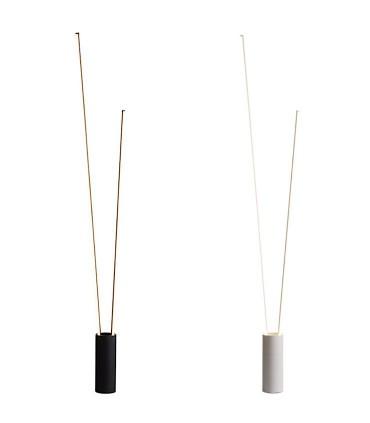Lámpara pie Vertical led 44W blanco, negro Mantra