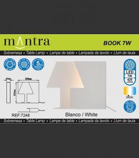 Características Lámpara sobremesa BOOK grande 10W 7245 Mantra