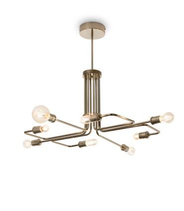 Lámpara TRIUMPH SP8 E27 Latón 160269 IDEAL LUX