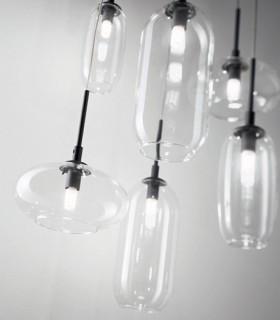 Lámpara YOGA SP6 6L G9 negro 173023 IDEAL LUX