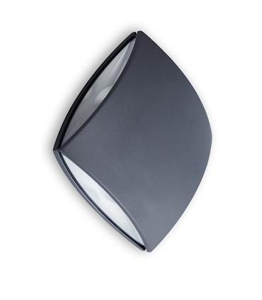 Aplique exterior LED PL Aluminio 11W 760lm 4000K