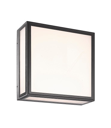 Aplique/Plafón BACHELOR  color gris oscuro (7055) LED 14W 3000K IP65 Mantra