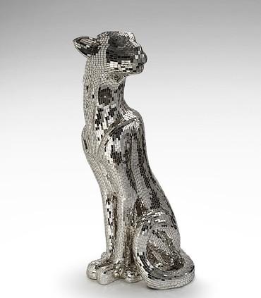 Figura Leopardo BAGUIRA plata izquierda 523499