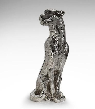 Figura Leopardo BAGUIRA plata derecha 523306