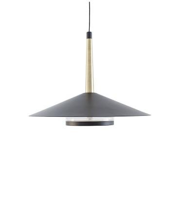 Lámpara negra cuero y latón ORION 8W LED Mantra 7305
