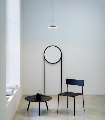 Lámpara negra cuero y latón ORION 8W LED Mantra