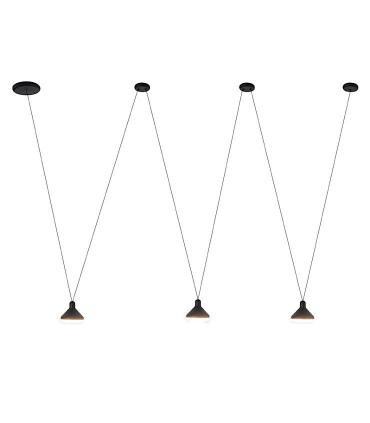 Lámpara negra tres luces ANTARES 24W LED Mantra 7311