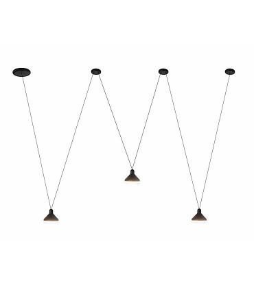 Lámpara negra tres luces ANTARES 24W LED Mantra