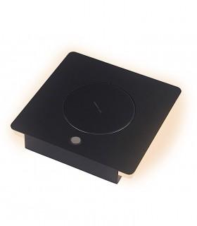 Detalle Sobremesa ZANZIBAR 6W con cargador móvil inducción negra