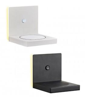 Aplique ZANZIBAR 3W con cargador móvil inducción Blanco o Negro