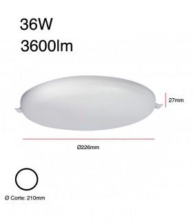 Dimensiones Downlight led Tango IP54 36W Alta luminosidad