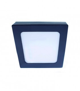 Plafón LED Know IP54 18W-30W 4000K cuadrado antracita INT-EXT