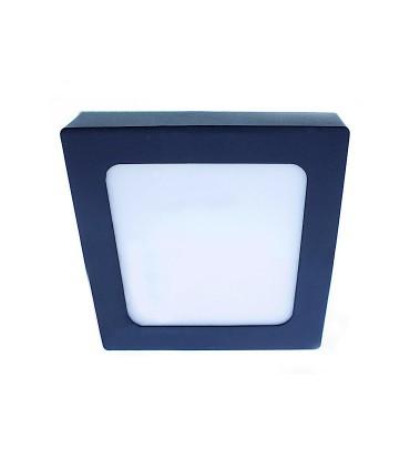 Plafón LED Know IP54 18W-30W 4000K cuadrado antracita INT-EXT