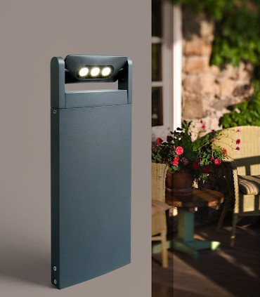 Baliza exterior led Spot 9w gris oscuro 52.6cm 605lm