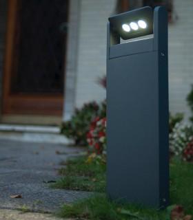 Baliza exterior led Spot 9w gris oscuro 52.6cm 605lm