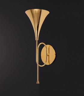 Aplique de pared Trompeta JAZZ Oro 1 Luz, 5898 Mantra