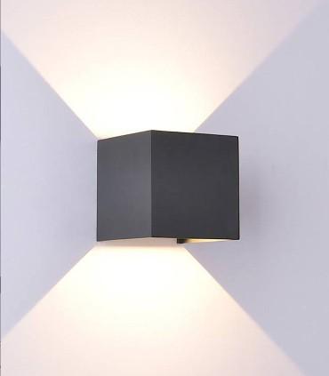 Aplique Davos 6520 cubo gris oscuro de Mantra