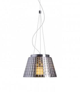 Lámpara colgante CORONA 35cm cristal cromado E27