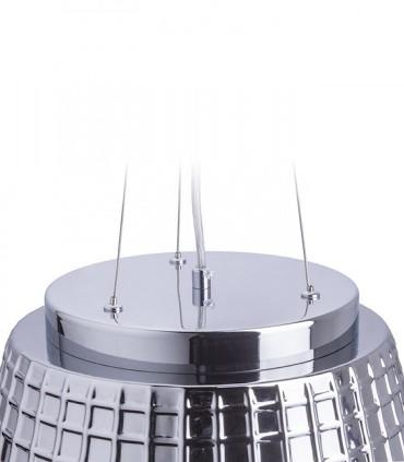 Detalle Lámpara colgante CORONA 35cm cristal cromado E27