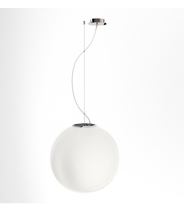 Lámpara Globo LUNEA 40 de vidrio opal triplex grande Ø40cm