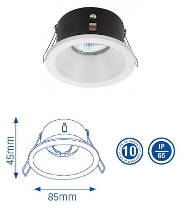Aro foco Empotrable GU10 IP65 Blanco