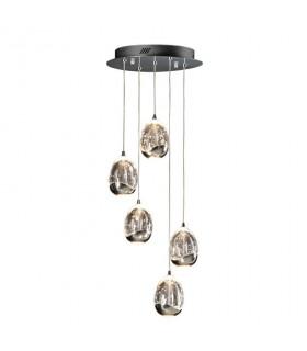 Lámpara 30cm ROCIO 5 led cromo - Schuller 783517