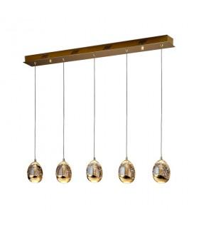Lámpara ROCIO 5 led oro, 783627 Schuller