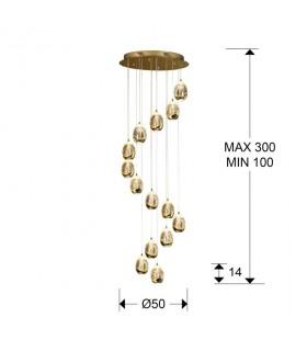 Lámpara 50cm ROCIO 14 LED oro - Schuller 785648