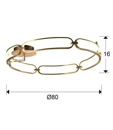 Plafón COLETTE 80 cm. dorado led 786508 - Schuller