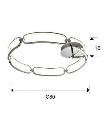 Plafón COLETTE 80cm cromo led - Schuller