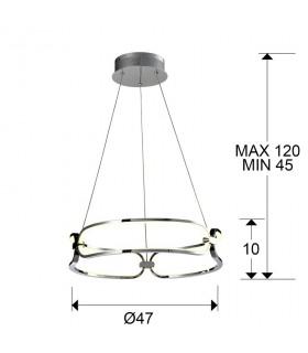 Lámpara COLETTE 47cm led cromo Schuller 786645
